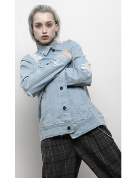 Lost Boys Denim Jacket Blue by Disturbia