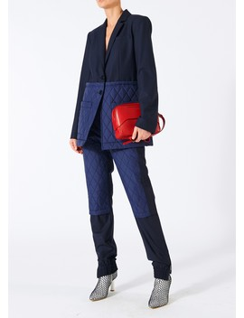 Quilted Combo Joggers by Tibi