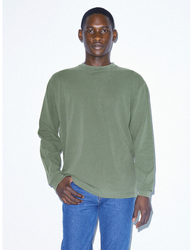 Heavy Jersey Long Sleeve Box T Shirt by American Apparel