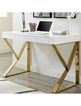 Modway Adjacent Writing Desk Color: White Gold Modway Adjacent Writing Desk Color: White Gold by Modway