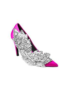 Katta Side Sequin High Heel Satin Pumps   9cm by Jessica Buurman