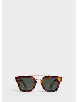 Square Sunglasses In Acetate by Celine
