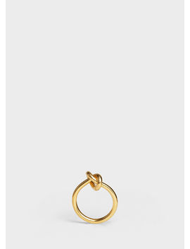 Knot Ring In Brass With Gold Finish by Celine
