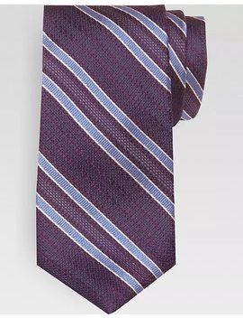 Joseph Abboud Purple & Blue Stripe Narrow Extra Long Tie by Mens Wearhouse