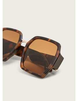 Солнцезащитные-очки-в-стиле-ретро-под-черепаху by mango