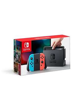 Nintendo Switch Console With Neon Red/Neon Blue Joy Con Controllers by Staples