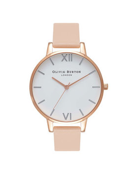 Olivia Burton Nude Peach Rose Gold Plated Ladies Watch by Beaverbrooks