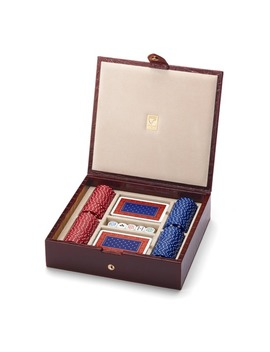 Leather Poker Set by Aspinal Of London