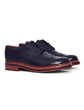 Archie Leather Brogue Black by The Idle Man