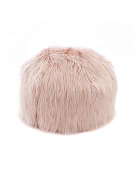 skylar-mongolian-faux-fur-small-bagel---blush by dunelm
