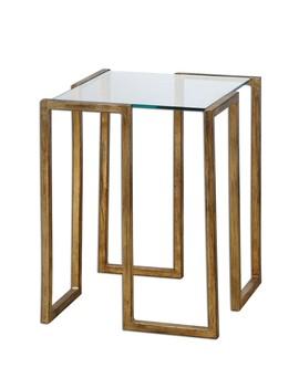 Luken Side Table, Gold by Lulu & Georgia