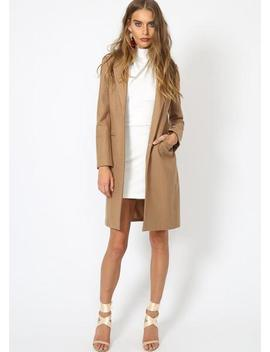 Donatella Short Winter Coat   Camel by Lioness