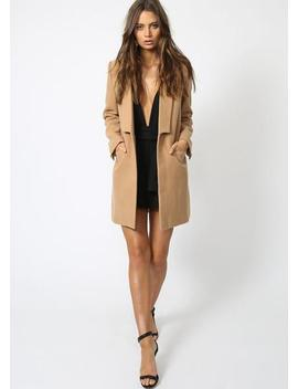 Monaco Coat   Camel by Lioness