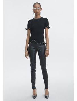 Zipper Hem Tee by Alexander Wang