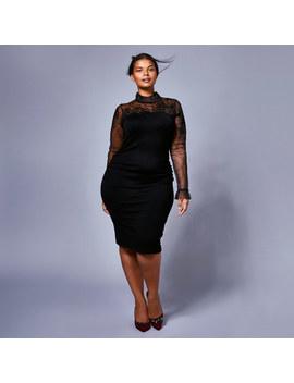 Ceri Tulle Knit Dress Cc by Coast