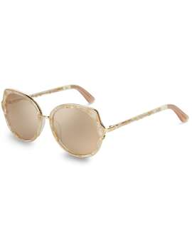 Lottie Gold Flecks Crystal Champagne Mirror Lens by Toms