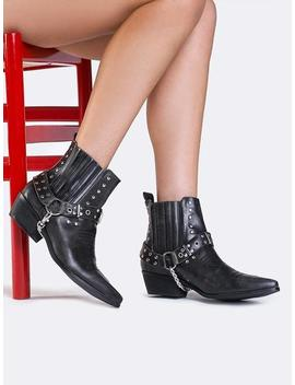 Laso Studded Ankle Bootie by Zooshoo
