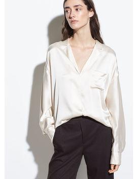 Silk Satin Pajama Popover by Vince