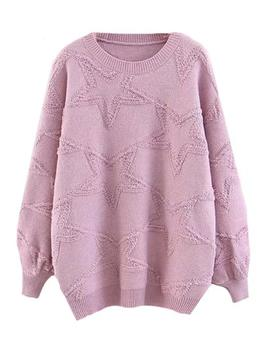'glissie' Star Patterned Crewneck Sweater (3 Colors) by Goodnight Macaroon