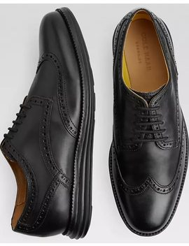 Cole Haan Original Grand.Os Black Wingtip Oxfords by Mens Wearhouse