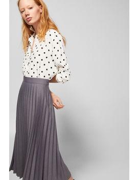 Pleated Midi Skirt by Springfield
