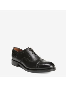 Factory 2nd   Strand Cap Toe Oxfords  With Dainite Rubber Sole by Allen Edmonds