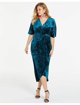Joanna Hope Cross Front Velour Maxi Dress by Simply Be