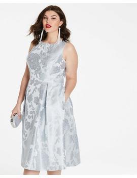 Joanna Hope Jacquard Prom Dress by Simply Be
