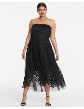 Joanna Hope Mesh Prom Dress by Simply Be