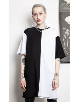 Duality Tee Dress by Disturbia