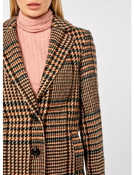 Colour Pop Check Midi Coat by Dorothy Perkins
