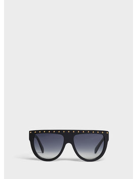 Aviator Sunglasses In Acetate And Metal by Celine