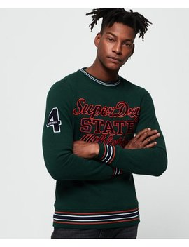 Academy Tipped Applique Sweatshirt by Superdry