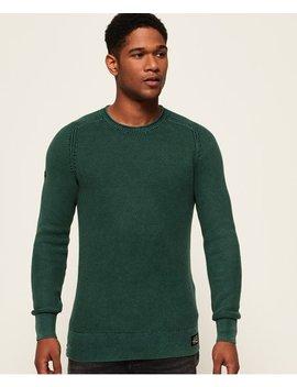 Garment Dye L.A.Textured Crew Jumper by Superdry