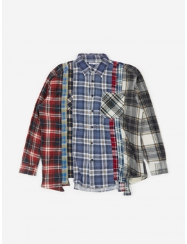 Rebuild 7 Cuts Flannel Shirt Size Large 2   Assorted by Needles