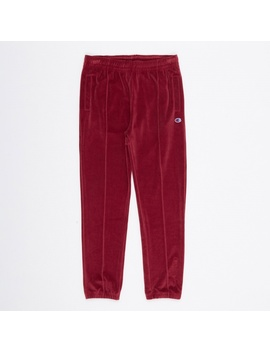 Velour Track Pant   Burgundy by Champion