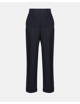 Sleek Flannel Straight Cuff Pant by Theory