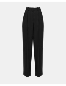 Textured Cady Pleated Trouser by Theory