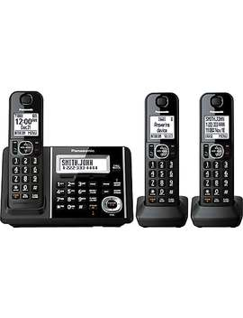 Panasonic Kxtgf343 B Digital Cordless Answering System With 3 Handsets by Staples