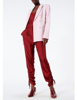 Mendini Twill Shirred Pants by Tibi