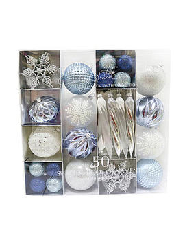 Jaclyn Smith 50 Ct Shatterproof Christmas Ornaments Midnight Clear Jaclyn Smith 50 Ct Shatterproof Christmas Ornaments Midnight Clear by Kmart