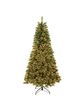 Jaclyn Smith 7' Pre Lit Clearwater Slim Cashmere Tree With 500 Clear Lights Jaclyn Smith 7' Pre Lit Clearwater Slim Cashmere Tree With 500 Clear Lights by Kmart