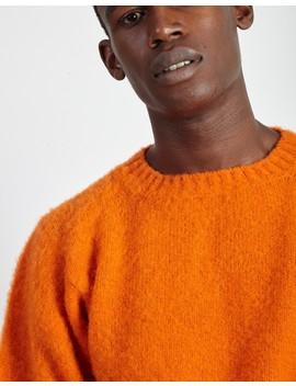 Crew Neck Shaggy Orange by The Idle Man