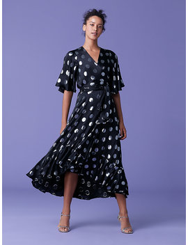 Sareth Dot Wrap Dress by Dvf