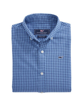 Boys Tradewinds Flannel Whale Shirt by Vineyard Vines