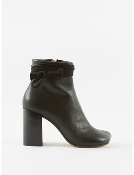 Tie Detail Ankle Boots   Black by Mm6 Maison Margiela