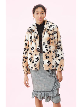 Cheetah Faux Fur Coat by Rebecca Taylor