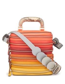 Circle Salmon Leather Zip Grab Bag by Anya Hindmarch