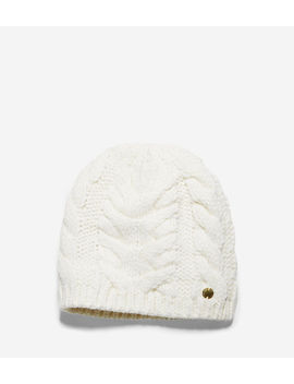 Lofty Cable Elongated Beanie by Cole Haan