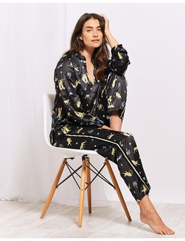 Cheetah Satin Pj Set by Figleaves